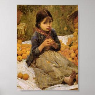 The Little Orange Gatherer Poster