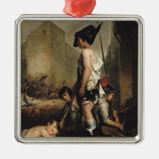 The Little Patriots, 1830 Silver-Colored Square Decoration