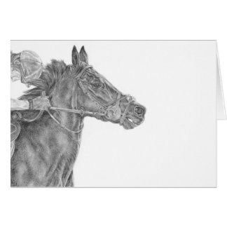 The Little Race Horse Greeting Card