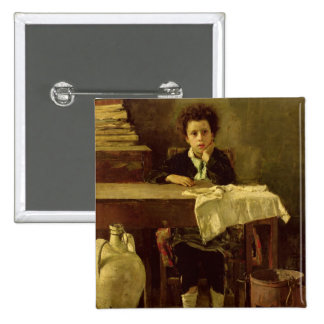 The Little Schoolboy, or The Poor Schoolboy 15 Cm Square Badge