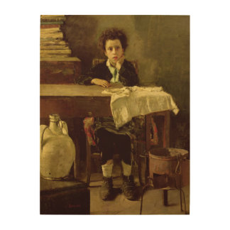 The Little Schoolboy, or The Poor Schoolboy Wood Print