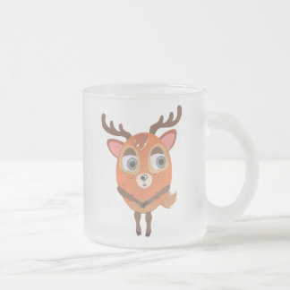 The Little Star Frosted Glass Deer Character Mug
