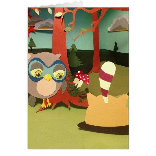 The Little Star Upside Down Racoon Card