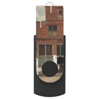 The Little Street by Johannes Vermeer Swivel USB 2.0 Flash Drive