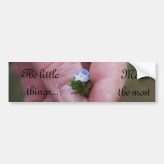 The Little Things Bumper Sticker