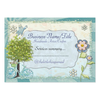 The Little Things HANDMADE CUSTOM CRAFTS Pack Of Chubby Business Cards