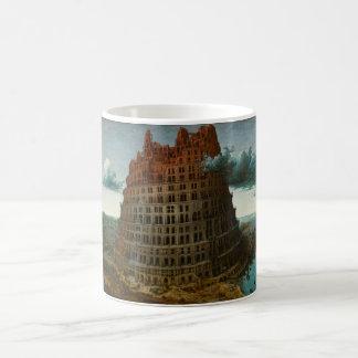 The Little Tower of Babel by Pieter Bruegel Basic White Mug
