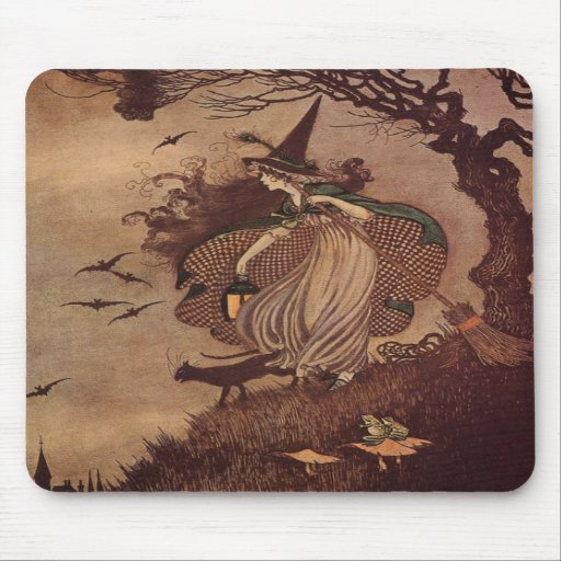 The Little Witch Mouse Pads