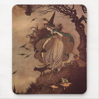The Little Witch Mouse Pad