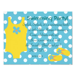 The Little Yellow Swimsiut Card