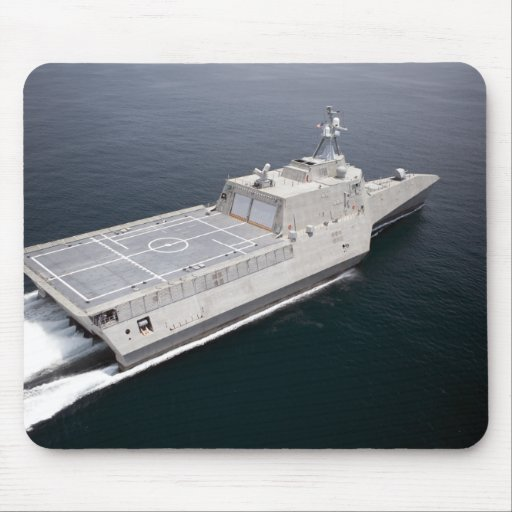 The littoral combat ship Independence 3 Mouse Pads