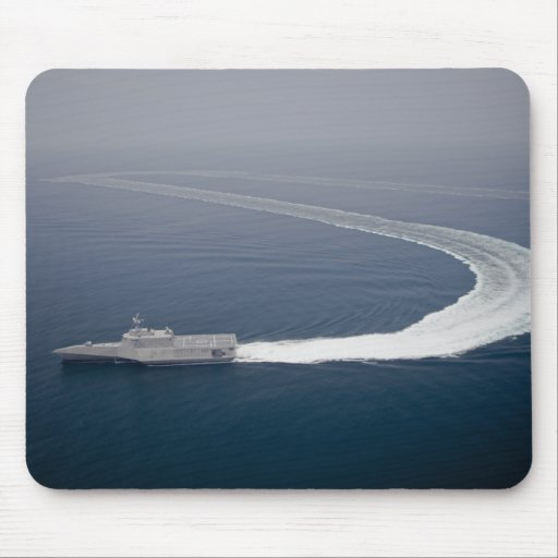 The littoral combat ship Independence 4 Mousepad