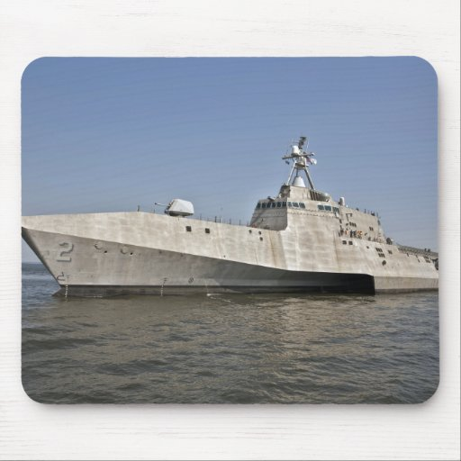 The littoral combat ship Independence underway Mousepads