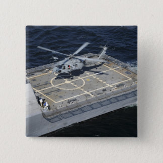 The littoral combat ship USS Freedom 15 Cm Square Badge