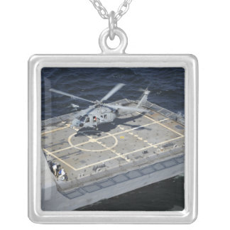 The littoral combat ship USS Freedom Silver Plated Necklace