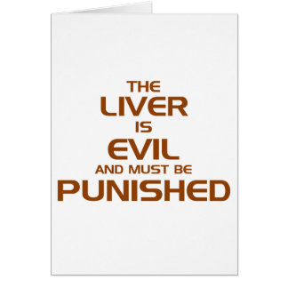 The Live Is Evil Greeting Card