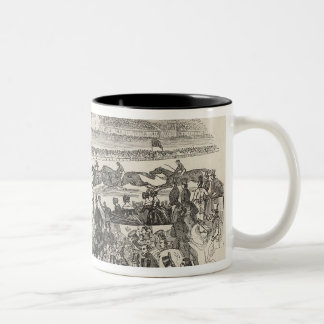 The Liverpool Grand Steeple Chase on Wednesday Two-Tone Coffee Mug