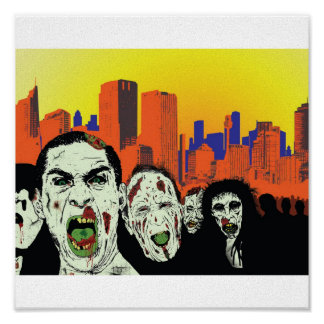 The living dead zombies poster