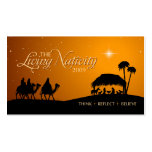 The Living Nativity gift tag