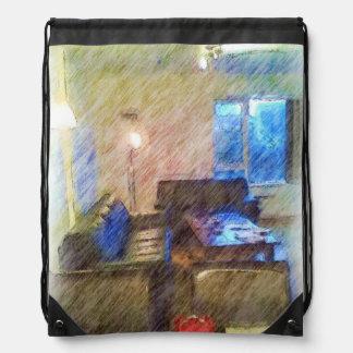 The Living Room Drawstring Bags