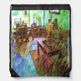 The Living room Drawstring Bag