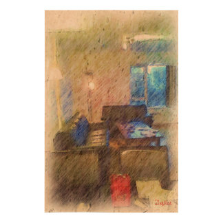 The Living Room Cork Paper Print