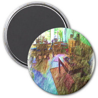 The Living room 7.5 Cm Round Magnet