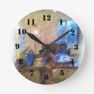 The Living Room Round Clock