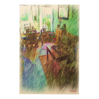 The Living room Wood Print