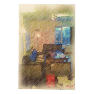 The Living Room Wood Print