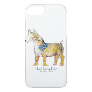 The Llama Dog - Hybrid Creature in Watercolor iPhone 8/7 Case