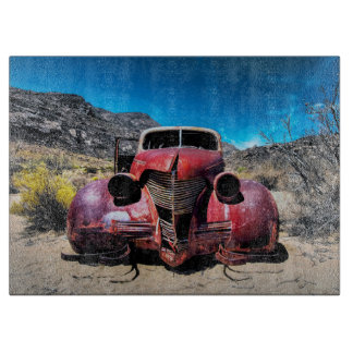 The Lobster Car a Vintage 1939 Chevy Cutting Board