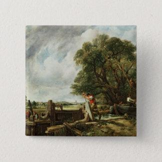 The Lock, 1824 15 Cm Square Badge