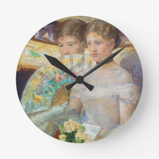 The Loge, 1882 (oil on canvas) Round Clock