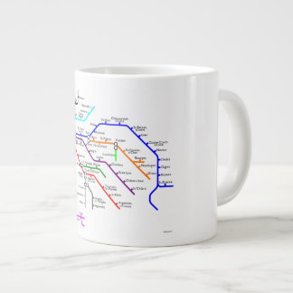 The Loire River system coffee mug