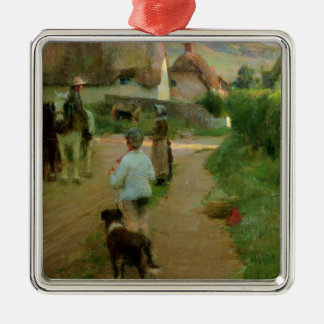 The Loiterers, 1888 (oil on canvas) Christmas Ornament