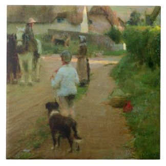 The Loiterers, 1888 (oil on canvas) Tile