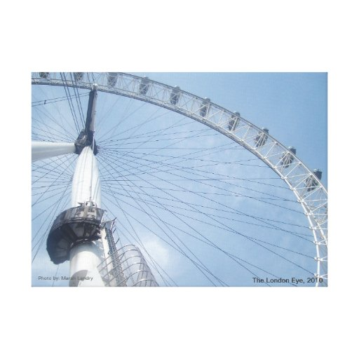 The London Eye 2 Stretched Canvas Print