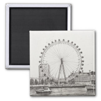 The London Eye 30/10/2006 Square Magnet