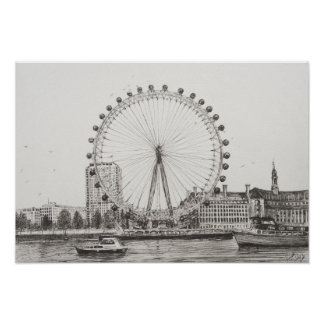The London Eye 30/10/2006 Poster