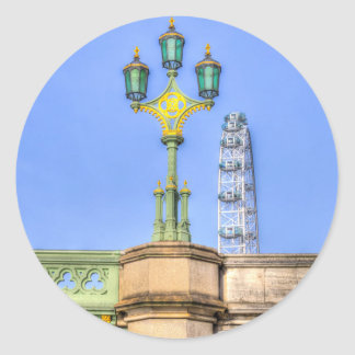 The London Eye And Westminster Bridge Classic Round Sticker
