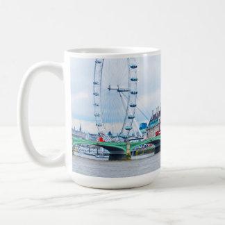 The London Eye on a Sunny Day Basic White Mug