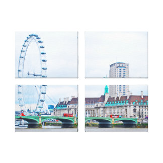 The London Eye on a Sunny Day Canvas Print