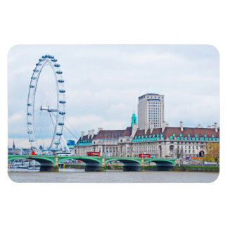 The London Eye on a Sunny Day Rectangle Magnet