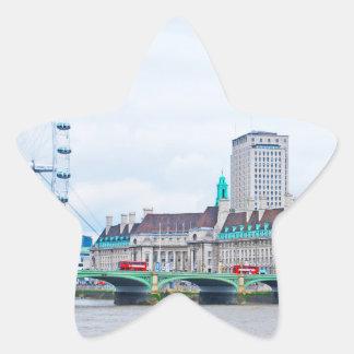 The London Eye on a Sunny Day Star Sticker