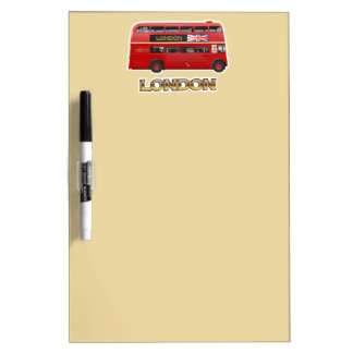 The London Red Bus Dry Erase Board