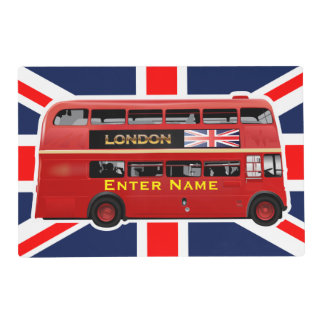 The London Red Bus Laminated Place Mat