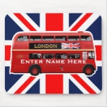 The London Red Bus Mouse Pad