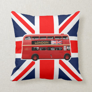 The London Red Bus Throw Pillow