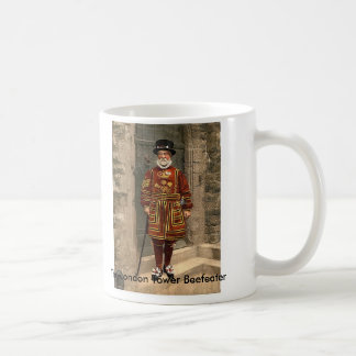 The London Tower Beefeater Basic White Mug